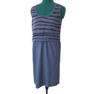 Parkhurst Blue Cotton Knit Sleeveless Dress, Large